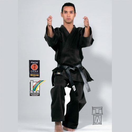 kimono karate negru 12 oz